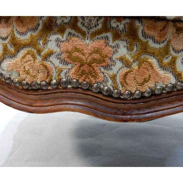 Contemporary Traditional French Ottomans With Rich Fabric Upholstery - a Pair For Sale - Image 6 of 11
