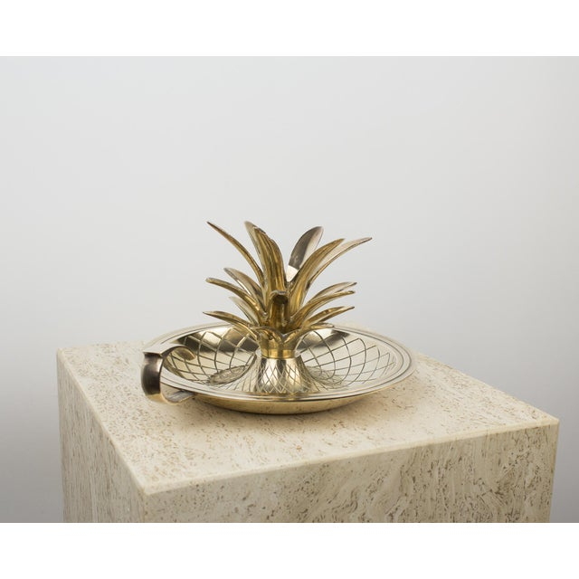 Brass Pineapple Candlestick Lamp Holder For Sale In New York - Image 6 of 10
