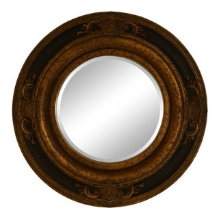 Round Beveled Glass Italian Style Mirror For Sale