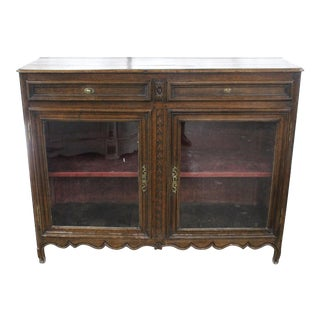 Early 19th Century Antique French Glass Door Sideboard For Sale