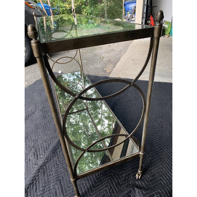 Metal Drexel Heritage Glass Console For Sale - Image 7 of 8