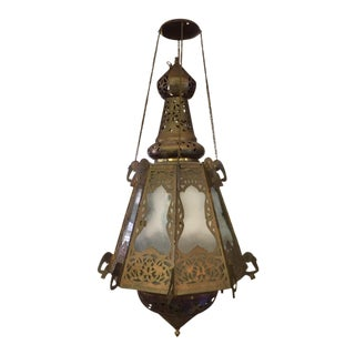 1950s Moorish Lantern With Elephant Details For Sale