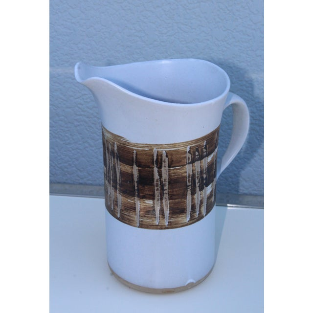 1960s modern ceramic pitcher designed by Gordon Martz for Marshall Studios.
