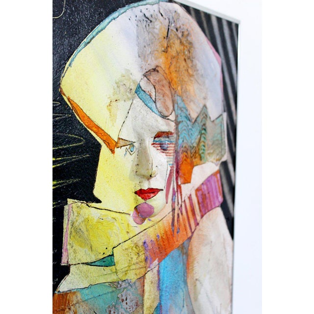 """""""Gifted Child"""" Contemporary Modern Acrylic & Dencite Mixed Media Art Signed Hawthorne For Sale In Detroit - Image 6 of 10"""