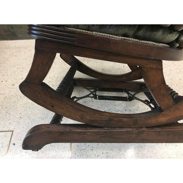 Wood Hunzinger Lollipop Platform Rocking Chair For Sale - Image 7 of 8