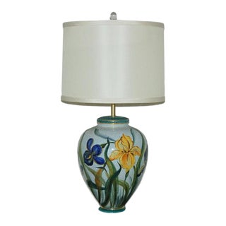Marbro Italian Porcelain Table Lamp Yellow For Sale