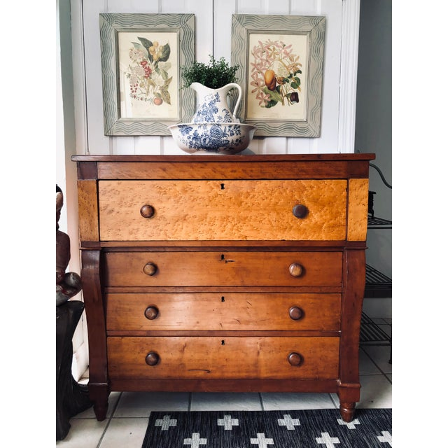 Beautiful Antique Empire Dresser. It Has Solid Wood Throughout And Birds Eye Maple On Top Dresser. A Timeless Classic To...