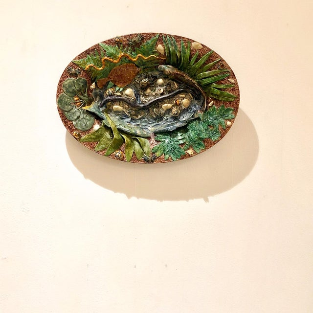 Large Palissy Platter, France Circa 1880 For Sale - Image 9 of 9