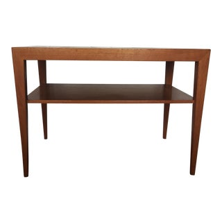 Severin Hansen Jr. C.1960's Danish Modern Teak & Tenera Tile Side Table