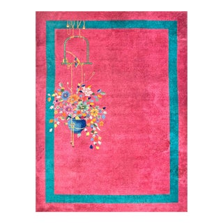1920s Antique Chinese Art Deco Rug-8′9″ × 11′6″ For Sale