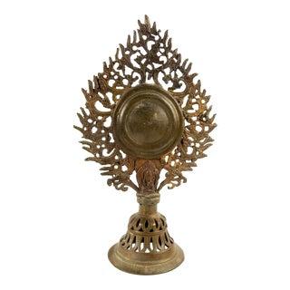 Antique Tibetan Bronze Mirror Finial For Sale