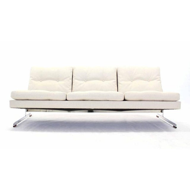 Early 20th Century Mid-Century Modern Chrome Frame Sofa New Upholstery For Sale - Image 5 of 8