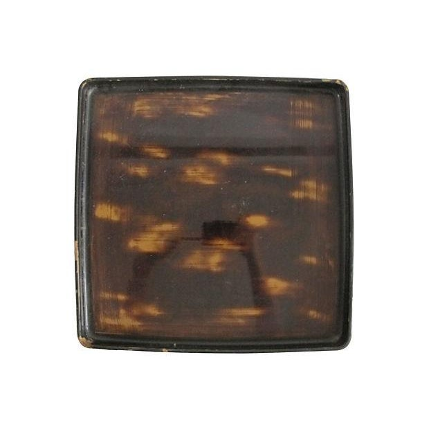 Japanese Faux-Horn Wooden Tray - Image 3 of 4
