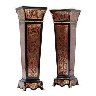 Napoleon III Style Faux Painted Boulles - A Pair