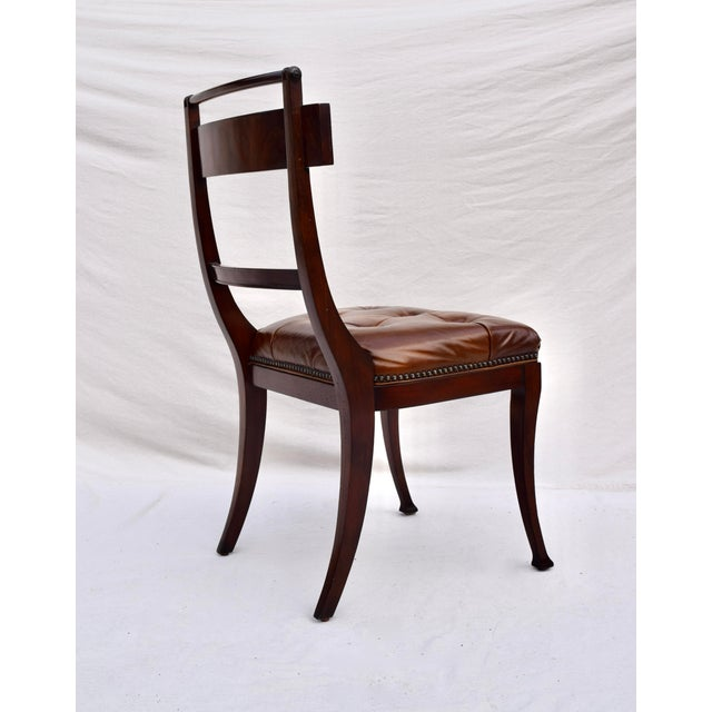 Henredon Hanover Tufted Leather Dining Chairs, Pair For Sale - Image 9 of 13