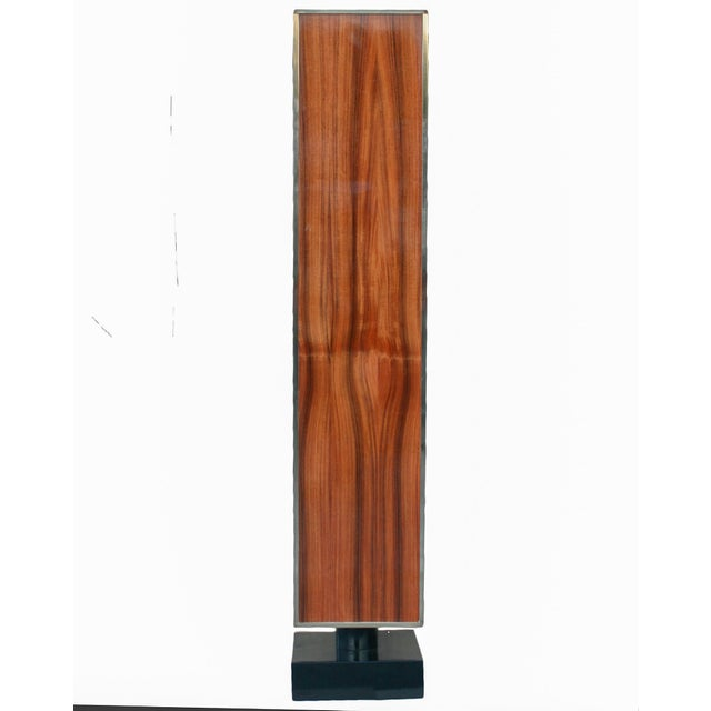 Contemporary Rosewood and Lacquer Pedestal or Column For Sale - Image 3 of 5