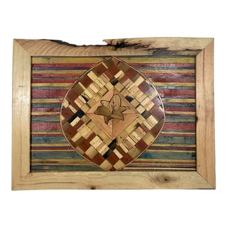 Handmade Inlaid Wooden Frame For Sale