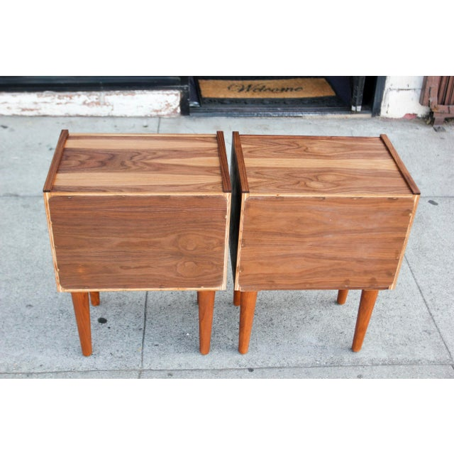 Mid-Century Modern Walnut Night Stands - a Pair For Sale - Image 12 of 12