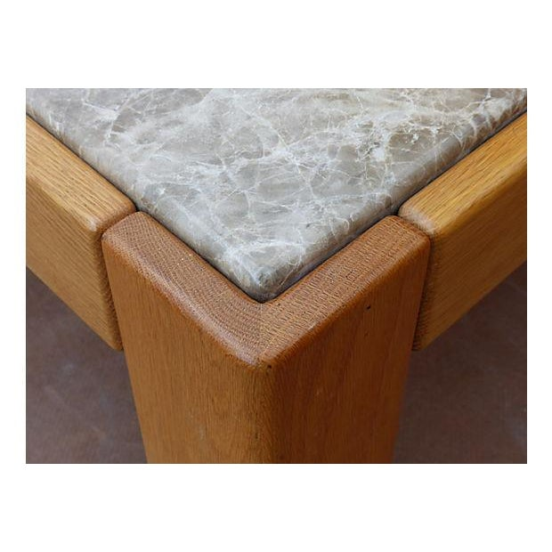 Knoll Beechwood and Marble Coffee Table For Sale - Image 9 of 10