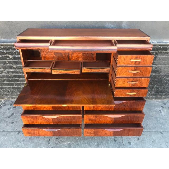 1960s Scandinavian Modern Erling Torvits for Klim Mobelfabrik Rosewood Secretary Desk For Sale - Image 9 of 13