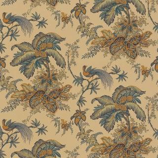 Sample - Schumacher Coconut Grove Wallpaper in Pecan For Sale