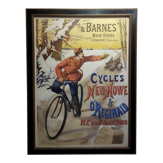 Gaston Fanty-Lescure Rare 1896 French Bicycle Poster For Sale