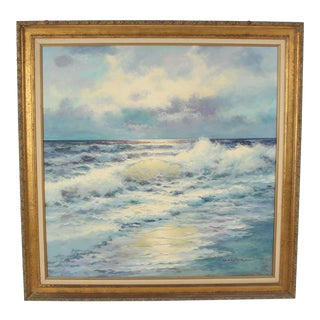 Seascape Painting by Garcia Negrete For Sale