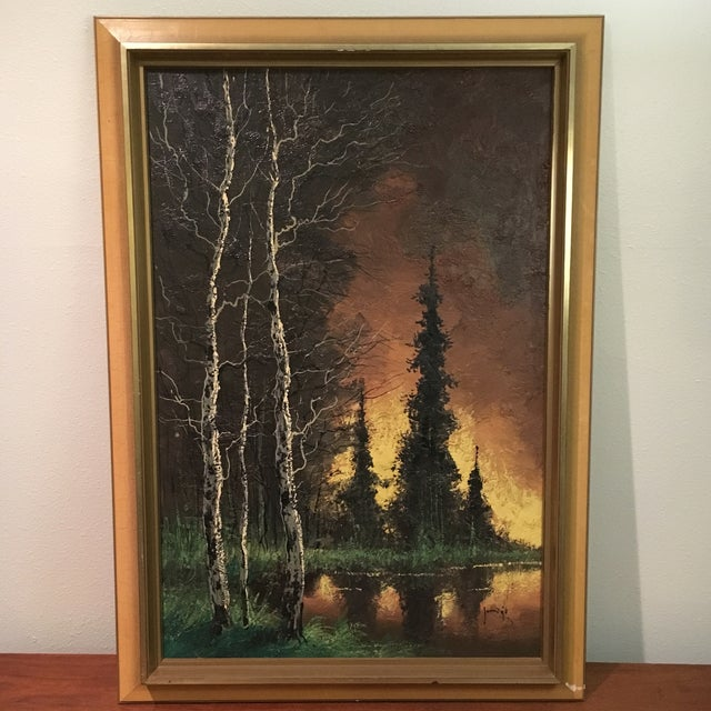 Vintage Framed Landscape Painting - Image 2 of 9
