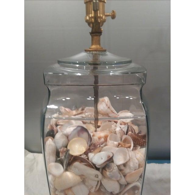 Shell Glass Urn Lamps John Richard Shades - Pair - Image 11 of 11