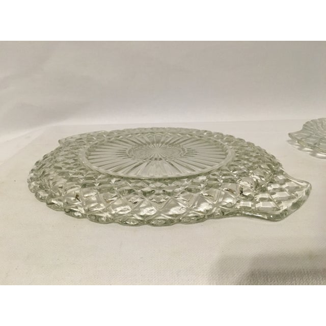 Clear Cut Glass Serving Trays - A Pair - Image 6 of 7