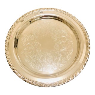Vintage O'Neida, Ol, Usa Silverplated Serving Tray For Sale
