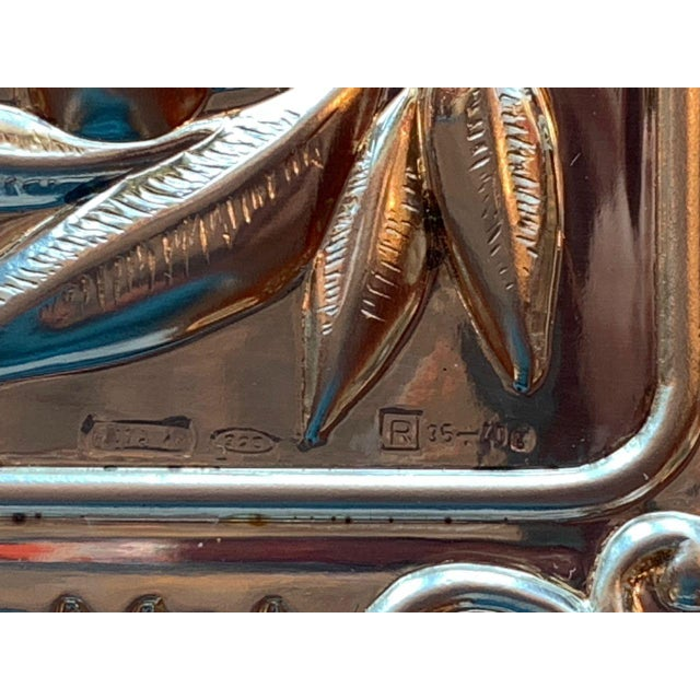 Traditional Hadad Brothers Sterling Silver Shabbat Challah Board For Sale - Image 3 of 6