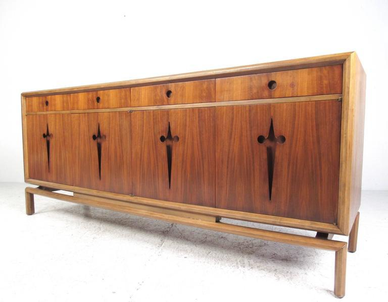 This Stunning Mid Century Modern Storage Credenza By Edmond Spence Features  Six Internal Drawers Beneath