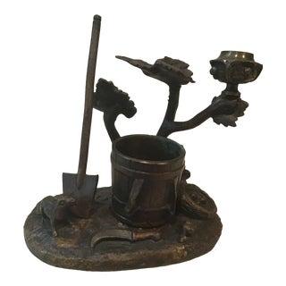 Early Bronze House Shovel Bucket Match Striker For Sale