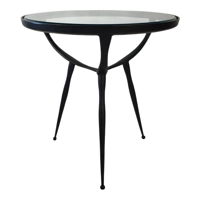 Solid Cast Bronze Table For Sale