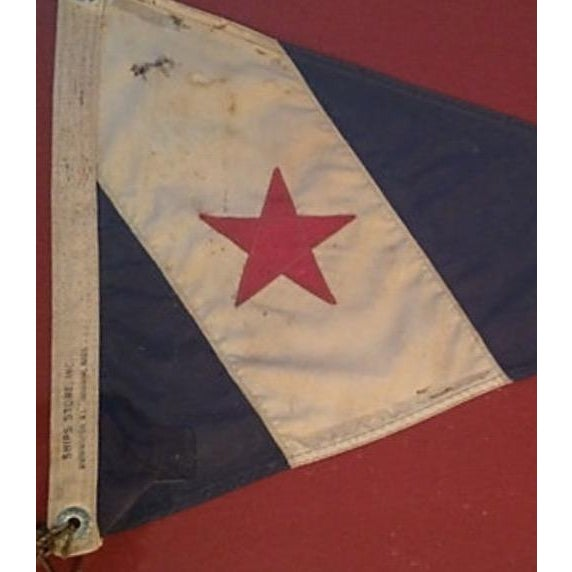 Framed Cohasset Ma Yacht Club Burgee For Sale - Image 4 of 5