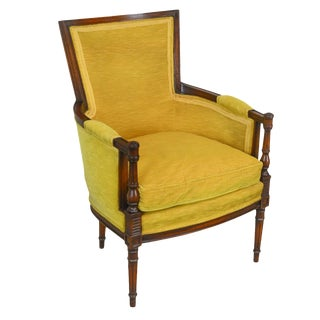 Hickory Chair Co. French Directoire Style Vintage Bergere Chair For Sale