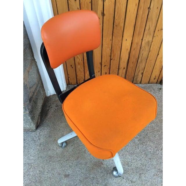 Vintage SteelCase Orange Office Chair - Image 5 of 8