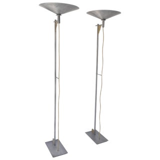 Pair of Postmodern Torchiere Floor Lamps by George Kovacs For Sale
