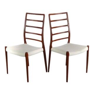 Niels Møller No. 82 Side Chairs in Teak J.L. Møllers Møbelfabrik, Denmark - A Set of 2, Denmark For Sale