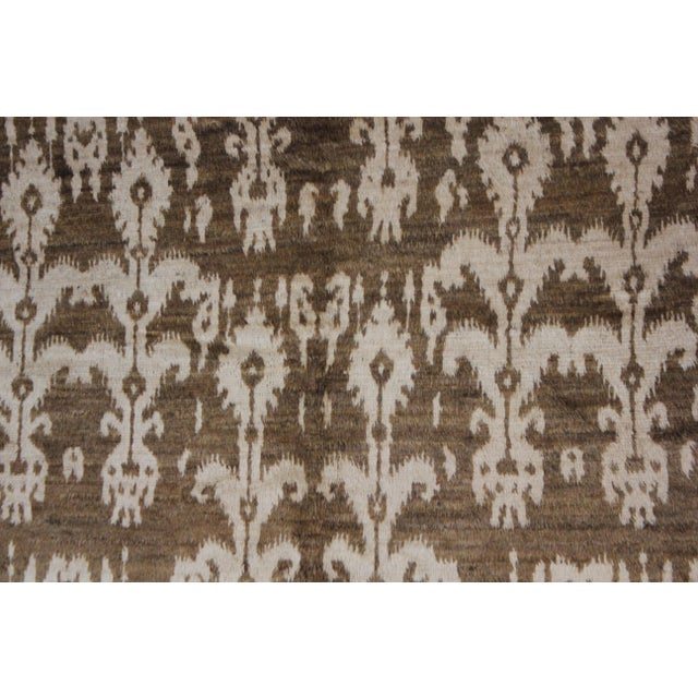 Hand Knotted Modern Ikat Rug - 5′ × 10′5″ For Sale - Image 4 of 5