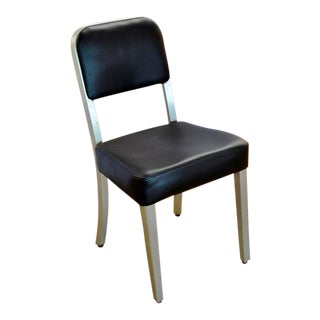 1950s Mid-Century Modern Aluminum Arm Less Goodform Office Side Chair For Sale