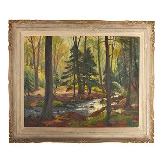 Original Frank Shirley Panabaker Painting Oil on Masonite