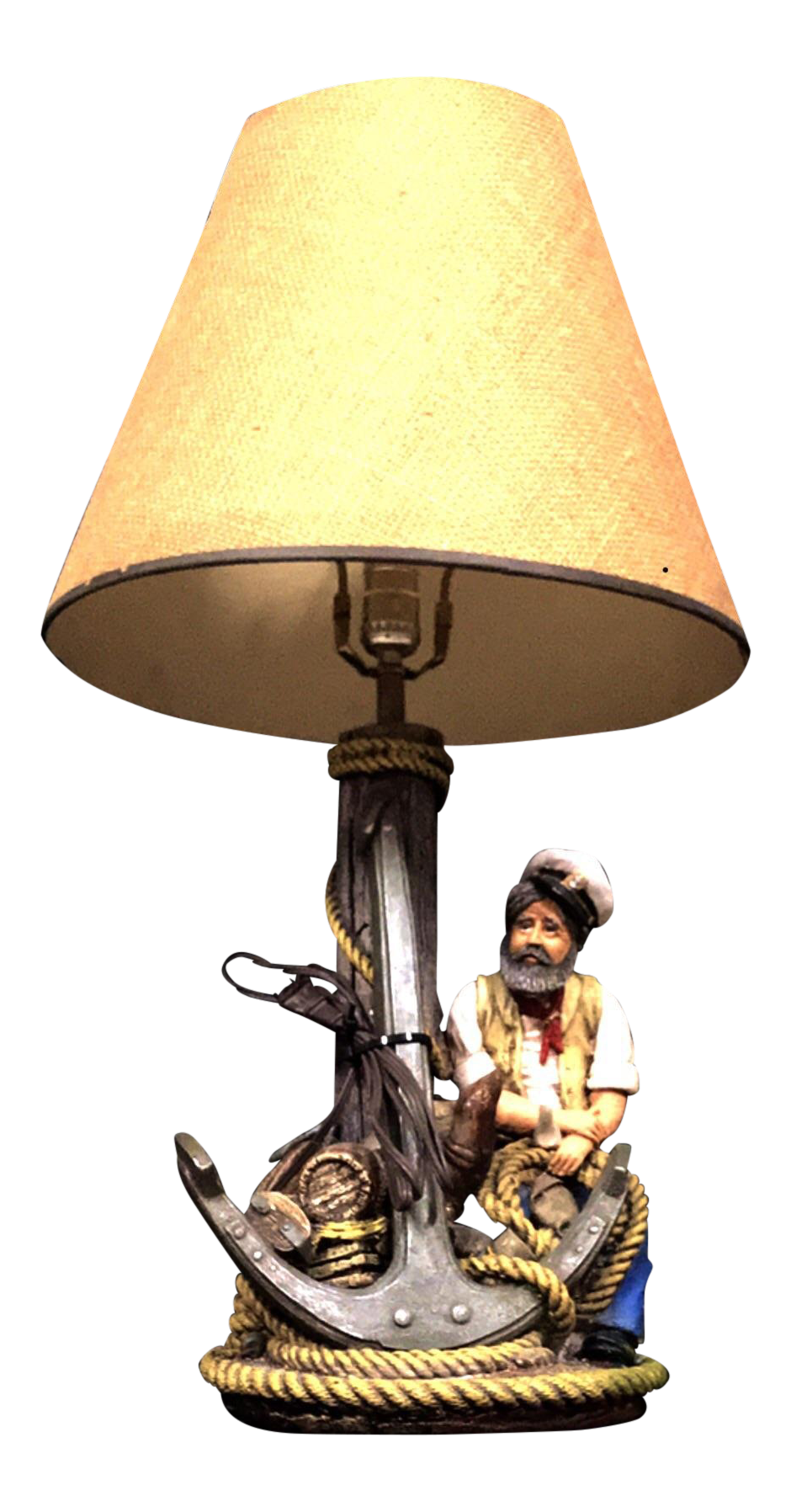 Apsit Brothers Of California Sailor And Jim Beam Chalk Table Lamp Chairish