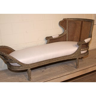 1850 Antique French Caned Chaise Lounge Preview