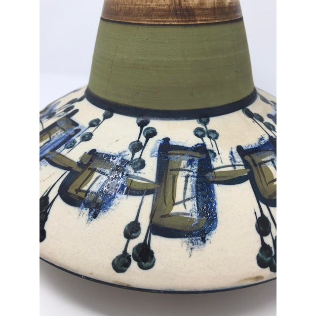 Vintage Mid-Century Modern Large Harsa Pottery Vase For Sale In Minneapolis - Image 6 of 8