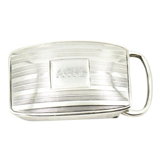 Early 20th Century Tiffany & Co. Sterling Silver Belt Buckle For Sale