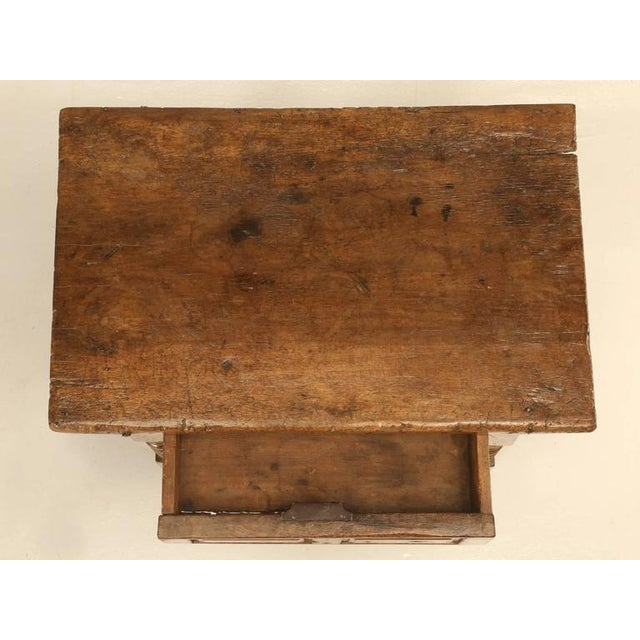Antique Spanish Walnut End or Side Table For Sale In Chicago - Image 6 of 10