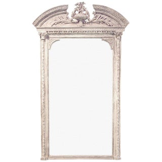 19th Century Antique French Painted Wall Mirror For Sale