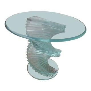 1970s Vintage Modern Spiral Helix Side Table